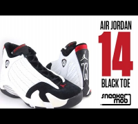 Air Jordan XIV 'Black Toe' Comparison