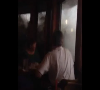 Crazy Wave Breaks Windows In Santa Barbara Restaurant