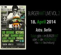 D-BO - BURGERAMT LIVE VOL. 2 - HEUTE! - ASTRA BERLIN