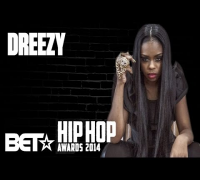 Dreezy Hypes Up Her Cypher Performance At The 2014 BET Hip-Hop Awards