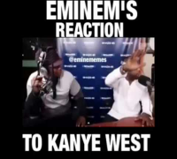 Eminem's and Royce's reaction to Kanye West