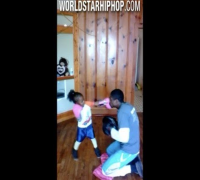 Future Athlete: 4 Year Old Girl Shows Off Her Boxing Skills With Her Father