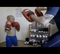 Future MMA Star: Little Boy Shows Off His Martial Art Skills With His Father