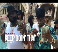 "Inside Look: Rick Ross ""Keep Doin' That (Rich Bitch)"" music video featuring R. Kelly"