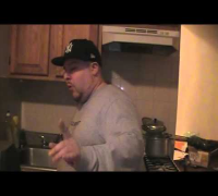 J-Ronin takes The Cinnamon Challenge!! Success!!! He Challenges any DJ or MC to do better!