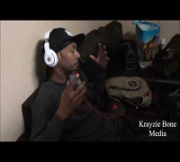 Krayzie Bone in studio recording for Chasing the Devil album plus interview