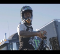 Meek Mill & His Lil Homie Chino Ridin Bikes At Monster Cup In Vegas!