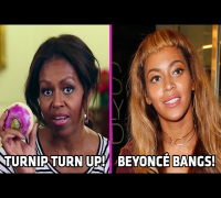 Michelle Obama's Turnip Turn up!   Beyoncé's Short Bangs!