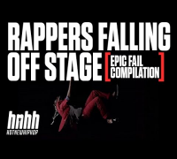 Rappers Falling Off Stage [ EPIC FAIL Compilation ]
