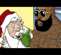 Rick Ross Sits On Santas Lap! Parody Cartoon
