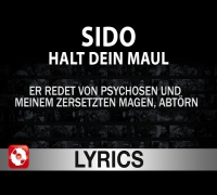 SIDO - HALT DEIN MAUL AGGROTV LYRICS (OFFICIAL VERSION AGGROTV)
