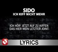 Sido - Ich kiff nicht mehr Lyrics