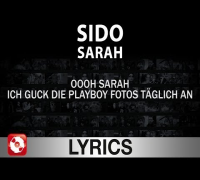 SIDO - SARAH - AGGROTV LYRICS - KARAOKE (OFFICIAL VERSION)