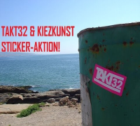 Sticker-Aktion: KIEZKUNST und Takt32 verschenken Sticker!