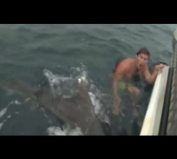 This Man Has A Very CLOSE Encounter With A Tiger Shark [HD]
