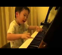 Tsung Tsung Amazing Piano Prodigy Age 5 Piano   Flood Time   Air 師承邱世傑