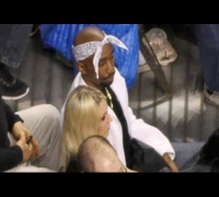 Tupac Shakur Look-Alike On Jumbotron Of The Celtics Vs. Warriors Game